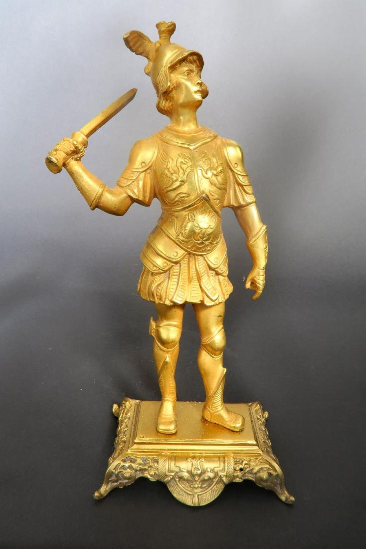 Pair Of Tiffany & Co  Gilded Bronze  Roman Soldiers - 5
