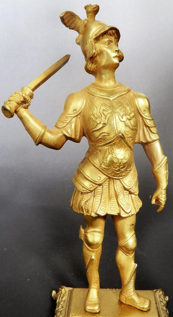 Pair Of Tiffany & Co  Gilded Bronze  Roman Soldiers - 7