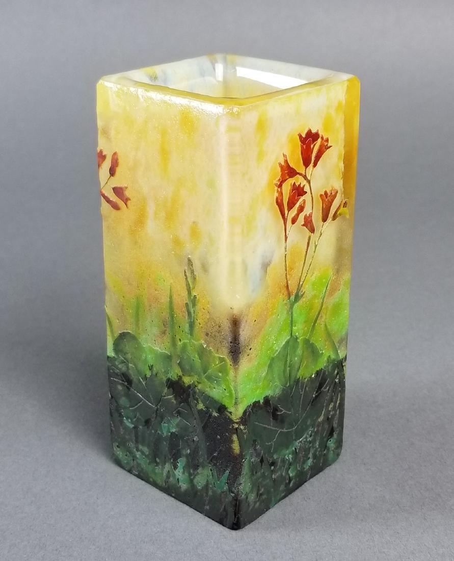 Daum Nancy Enamelled Cameo Vase Circa 1900