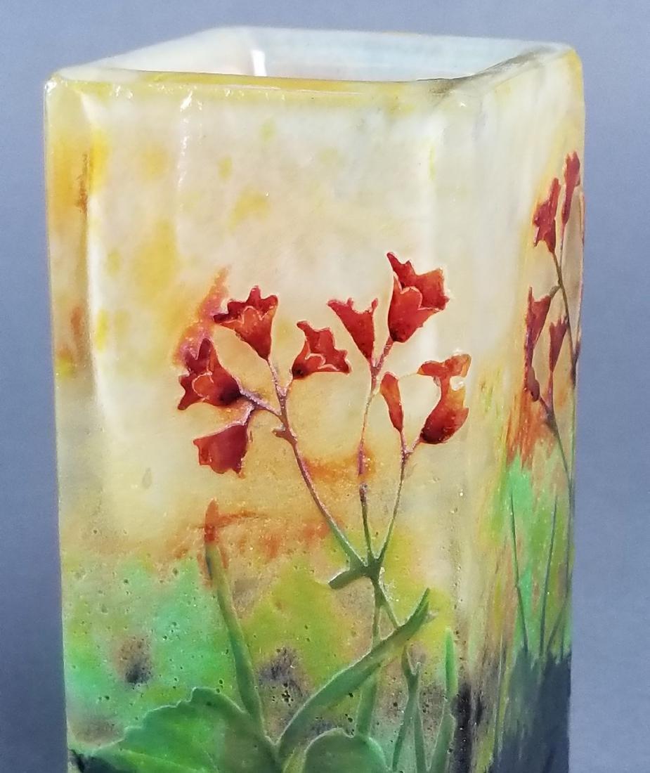 Daum Nancy Enamelled Cameo Vase Circa 1900 - 2