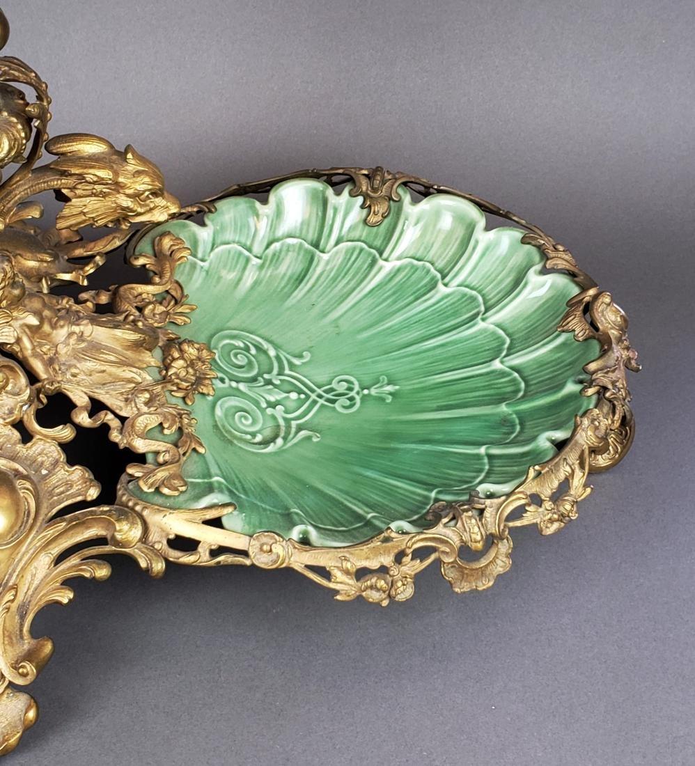 Large Dirk Van Erp Bronze & Porcelain Centerpiece - 4