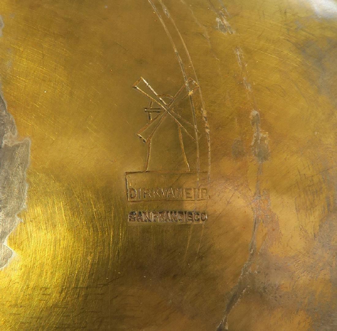 Large Dirk Van Erp Bronze & Porcelain Centerpiece - 5