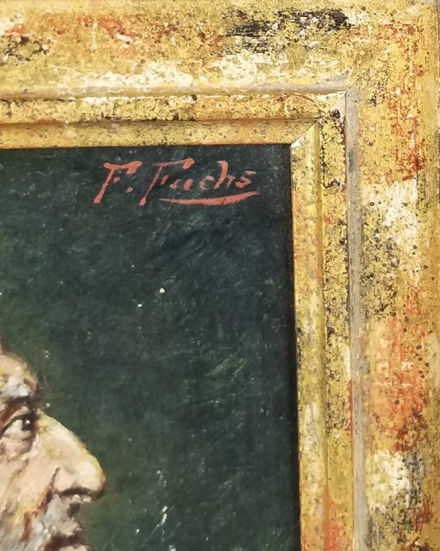 Framed Oil on Board of Rabbi Signed - 3