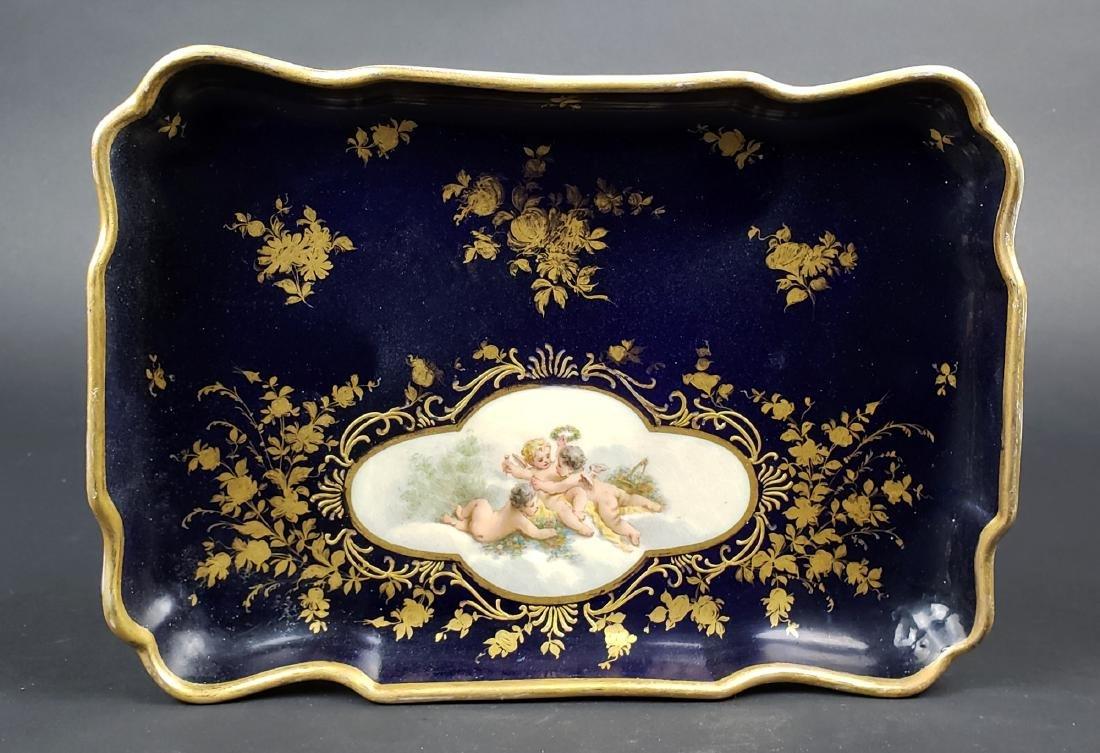 19th C. Meissen Porcelain Tray