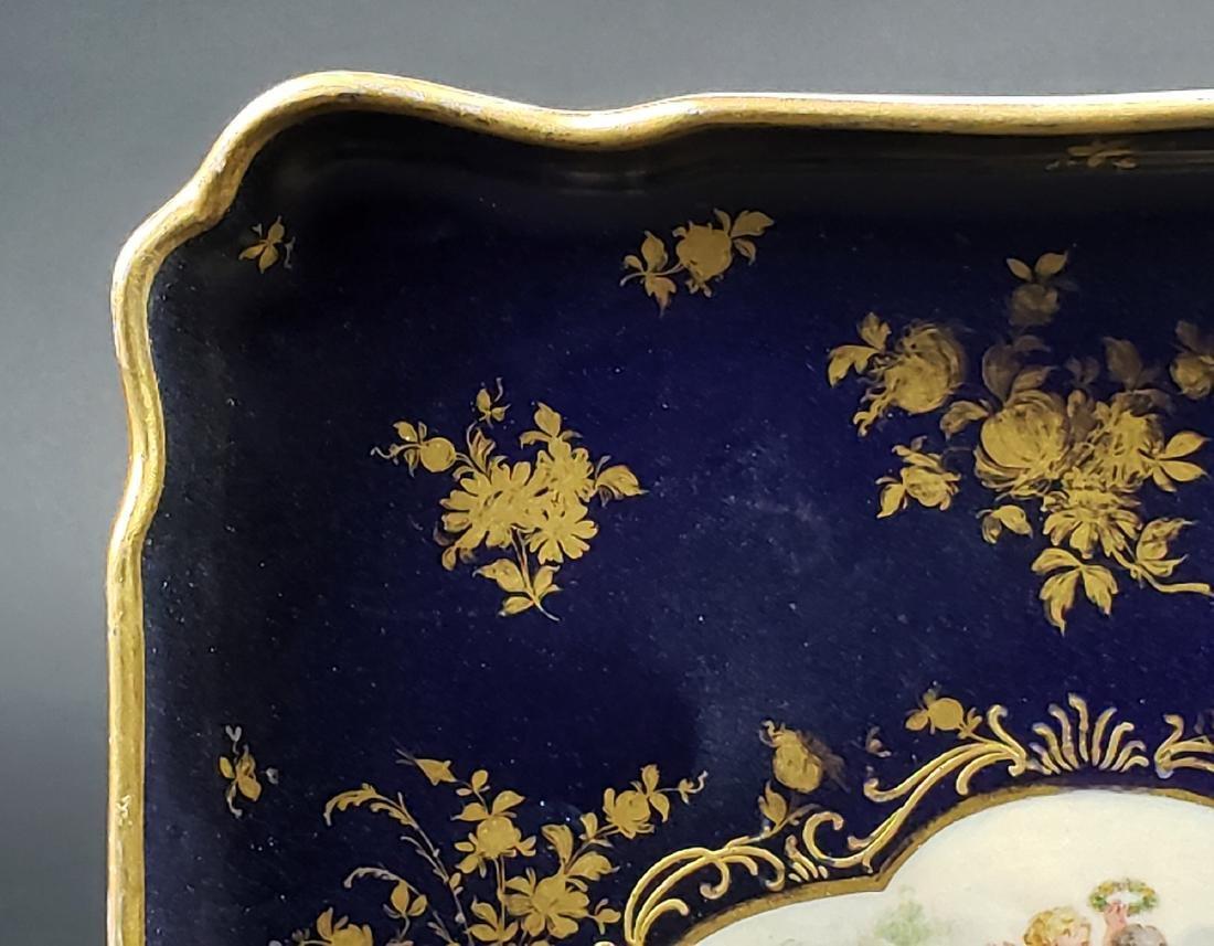 19th C. Meissen Porcelain Tray - 3