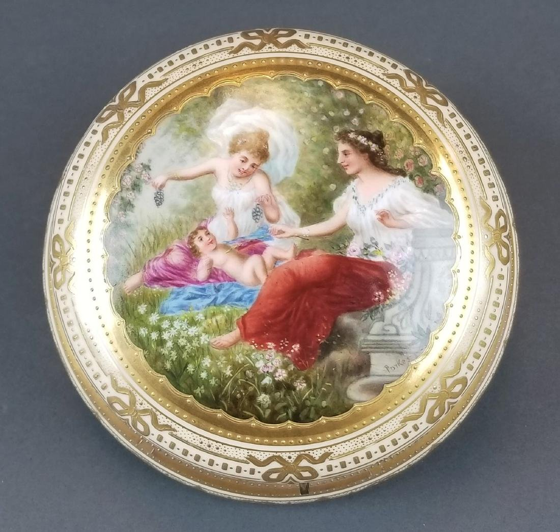 19th C. Royal Vienna Hand Painted Jewelry Box - 2