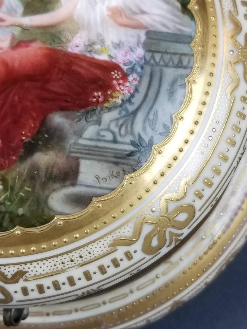 19th C. Royal Vienna Hand Painted Jewelry Box - 3