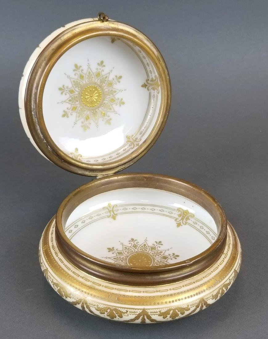 19th C. Royal Vienna Hand Painted Jewelry Box - 4