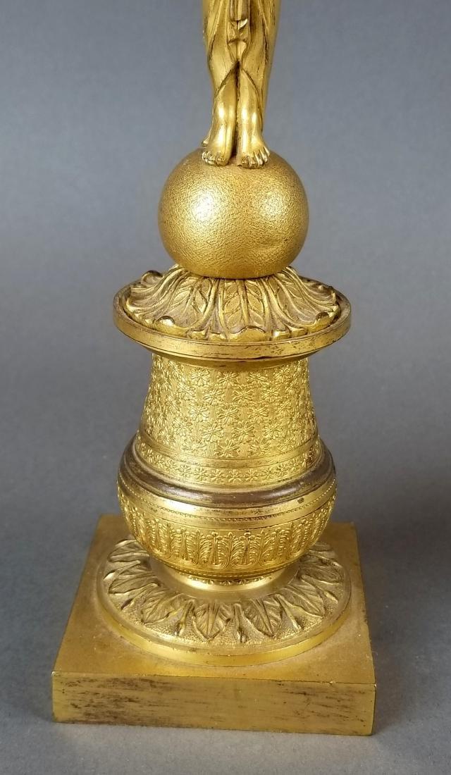 Pair of 19th C. Bronze Empire Candelabras - 3