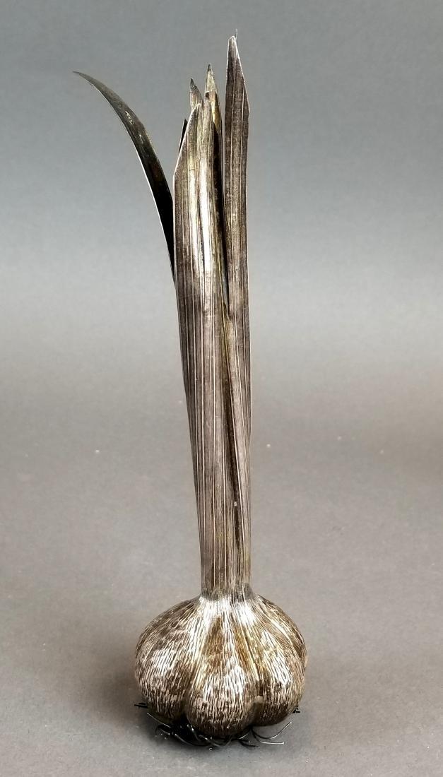 Buccellati Handamde Silver Garlic Figure