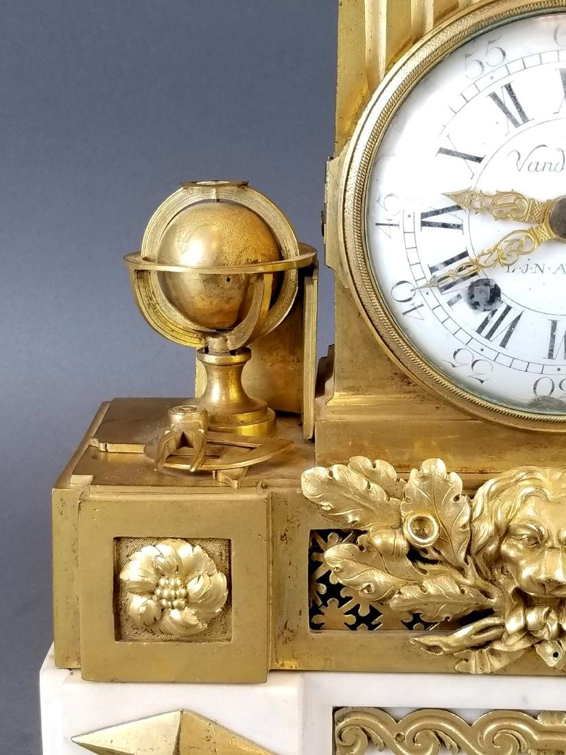 19th C. French Bronze & Marble Mantle Clock - 3