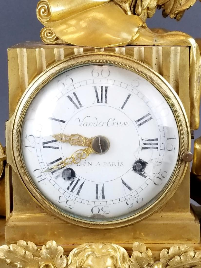 19th C. French Bronze & Marble Mantle Clock - 4