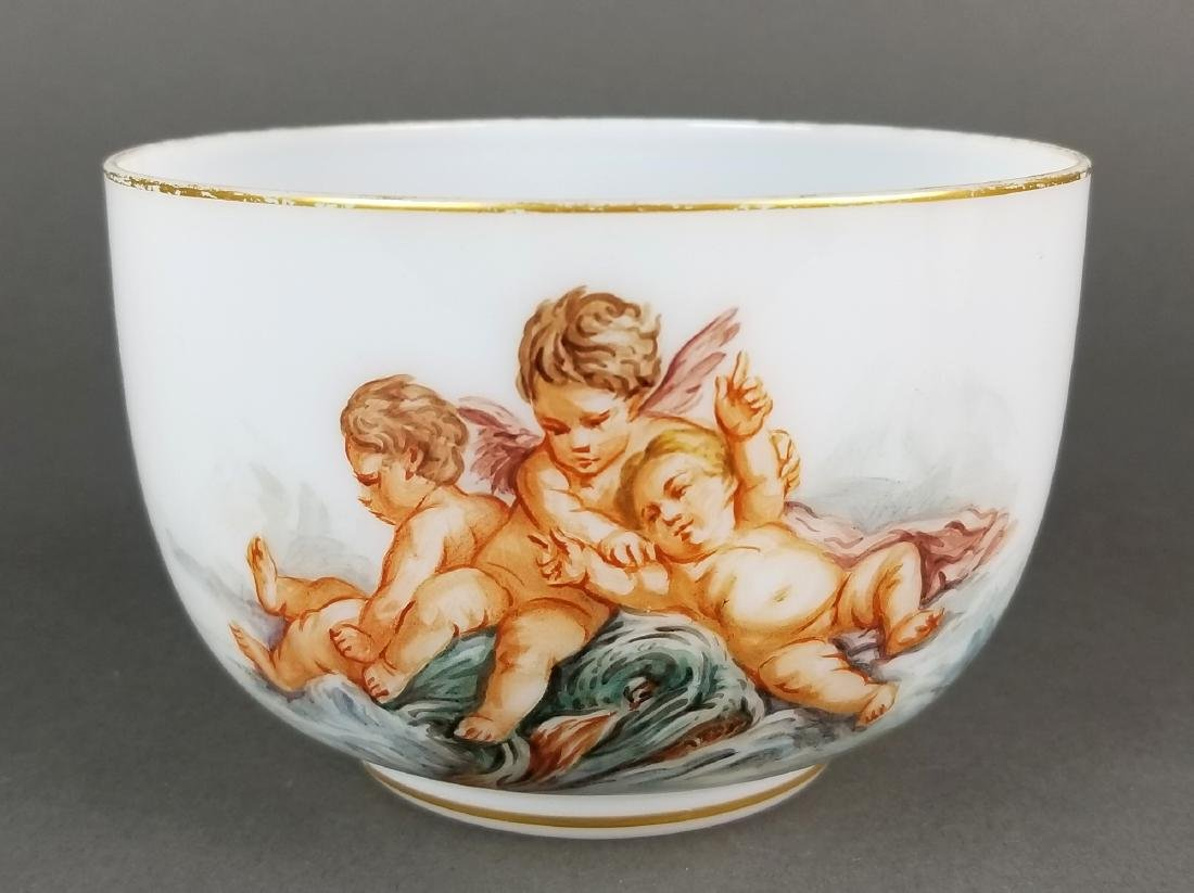 Pair of 19th C. Baccarat Opaline Bowls - 2