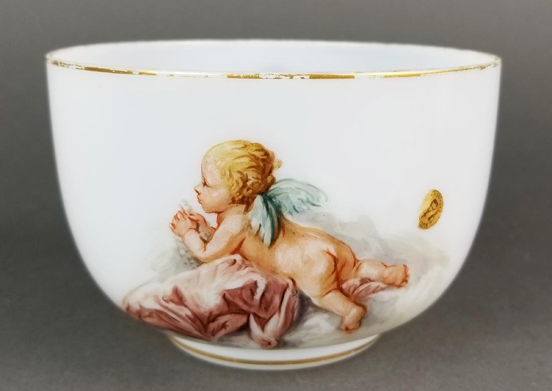 Pair of 19th C. Baccarat Opaline Bowls - 3