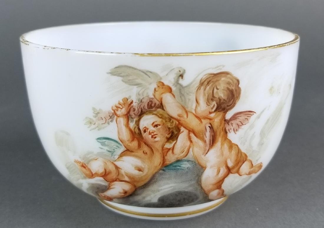 Pair of 19th C. Baccarat Opaline Bowls - 6