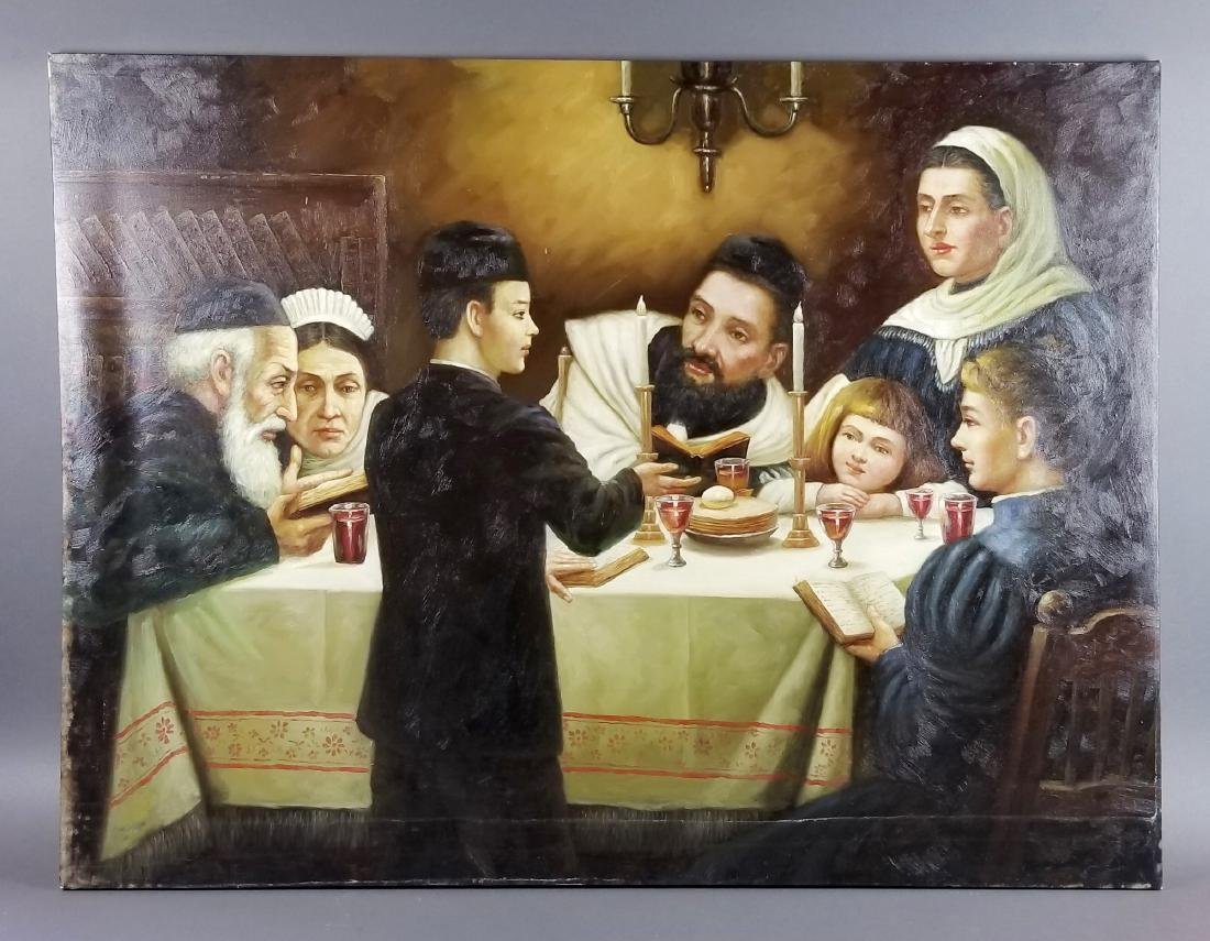 "Oil on Canvas ""Passover Dinner"""
