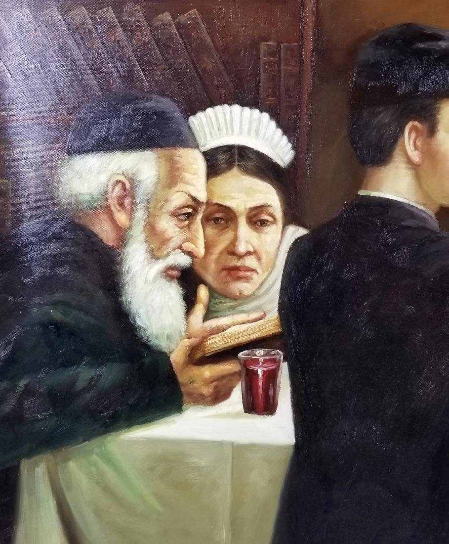 "Oil on Canvas ""Passover Dinner"" - 3"