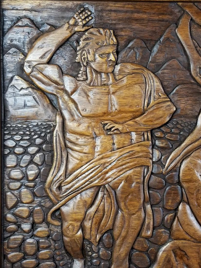 "Large Carved Wood Biblical Frame ""Michael Angelo - 3"