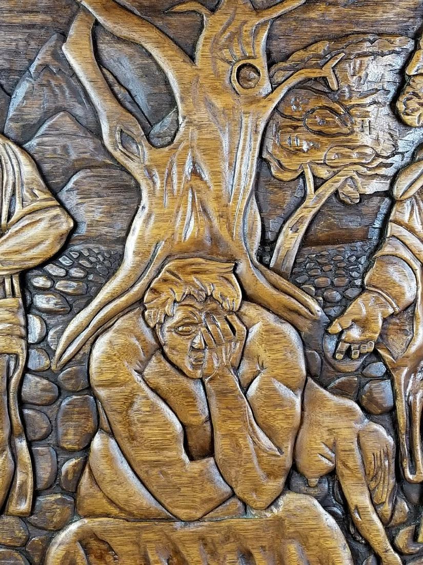 "Large Carved Wood Biblical Frame ""Michael Angelo - 4"