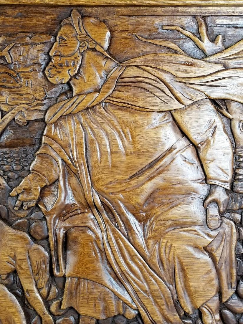 "Large Carved Wood Biblical Frame ""Michael Angelo - 5"