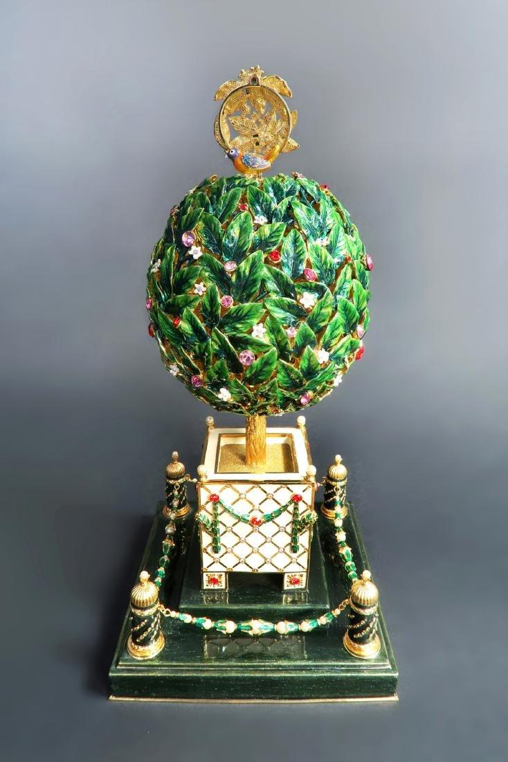 Large Faberge Tree Musical Egg - 2