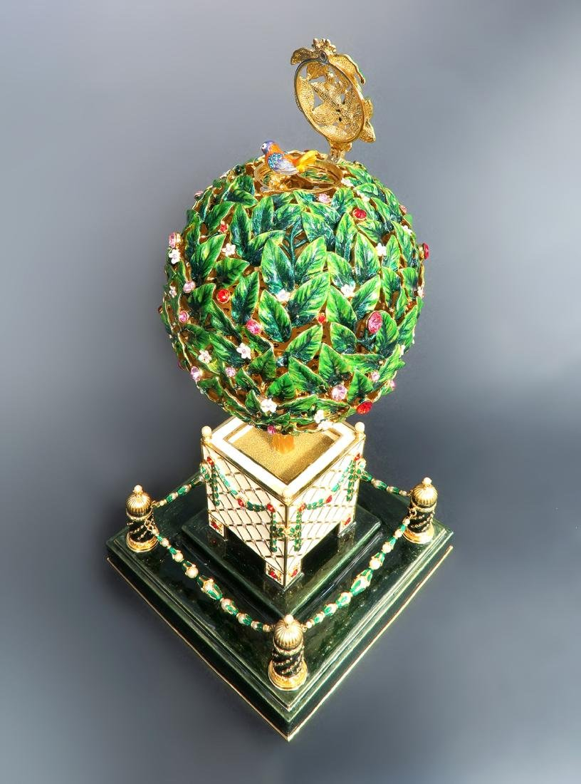 Large Faberge Tree Musical Egg - 3