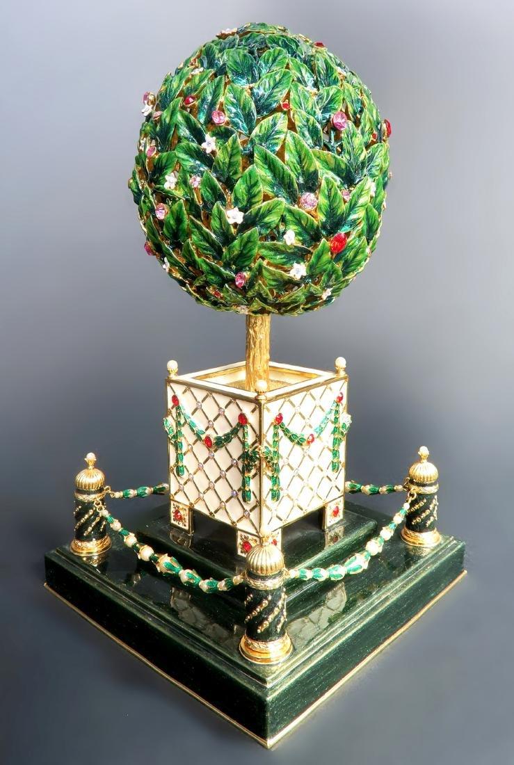 Large Faberge Tree Musical Egg - 4