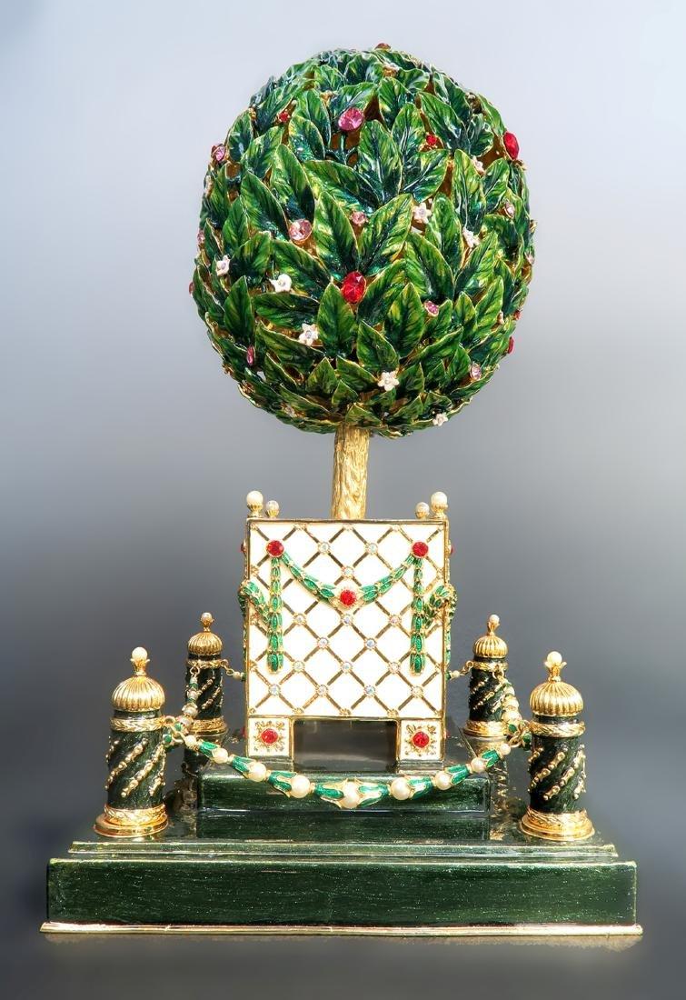 Large Faberge Tree Musical Egg - 5