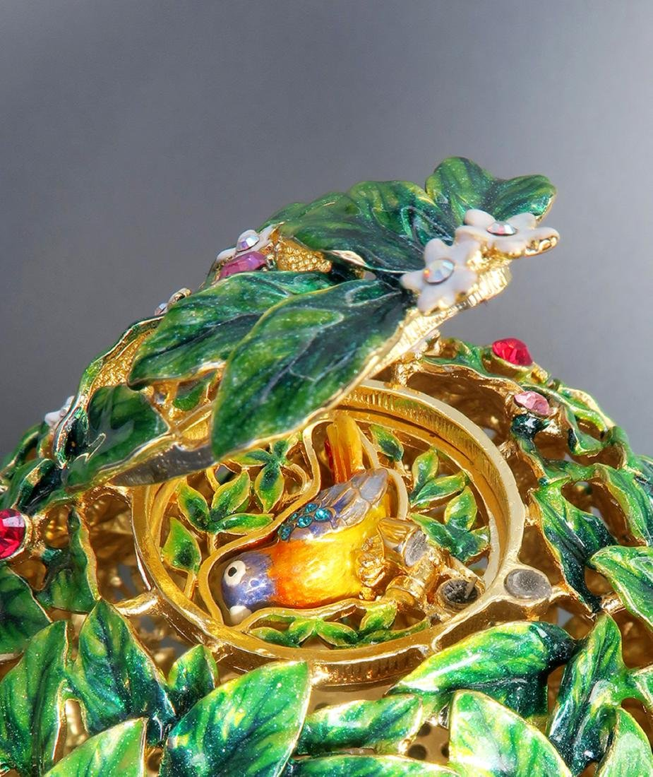 Large Faberge Tree Musical Egg - 8