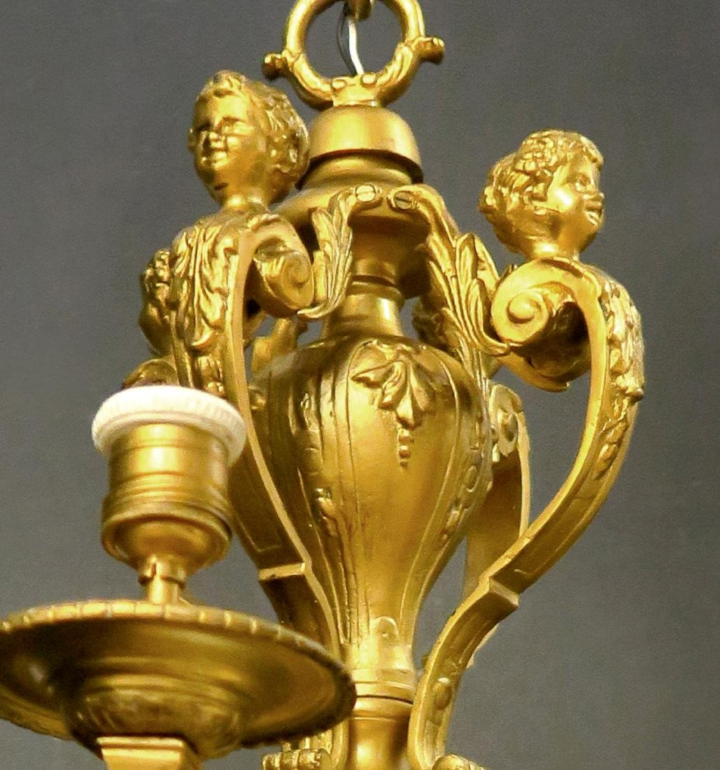 Pair of French Figural Bronze Chandelier. 19th C. - 3