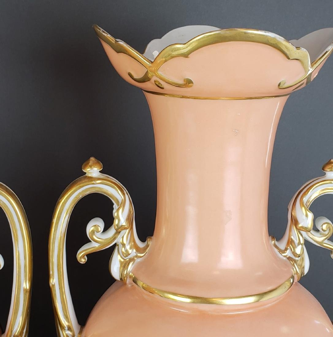 Pair of 19th C. French Large Porcelain Vases - 4