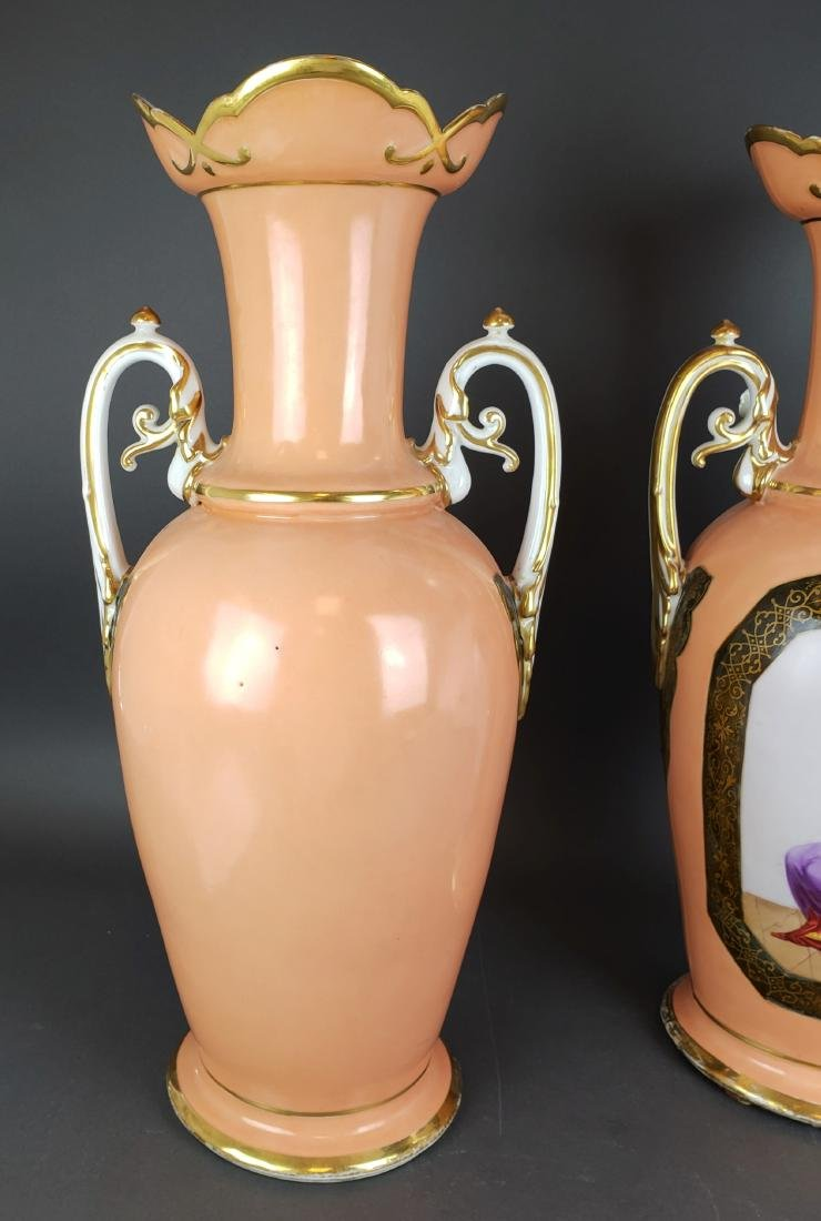 Pair of 19th C. French Large Porcelain Vases - 5