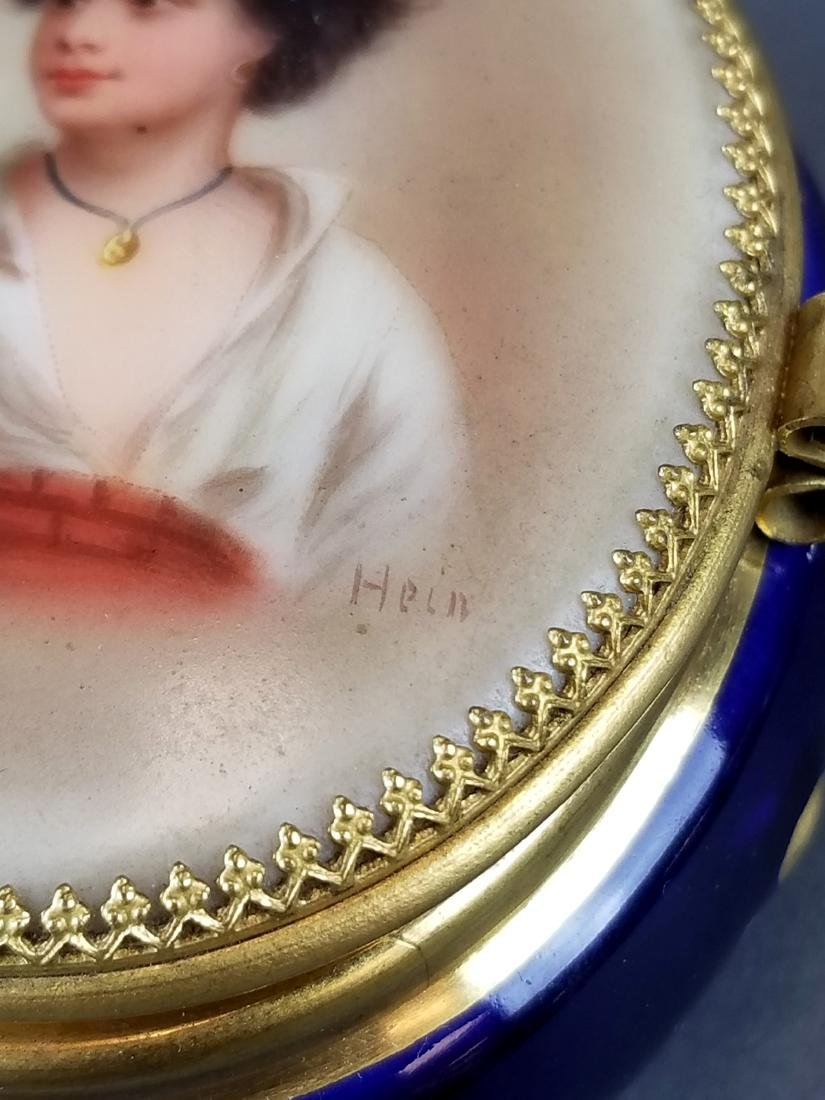 French Seres Style Handpainted Jewelry Box - 5
