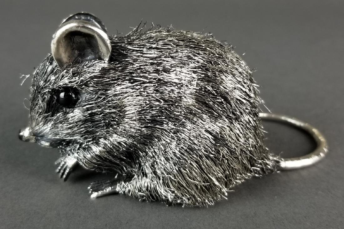 Buccellati Fine Handmade Silver Mouse Signed - 2