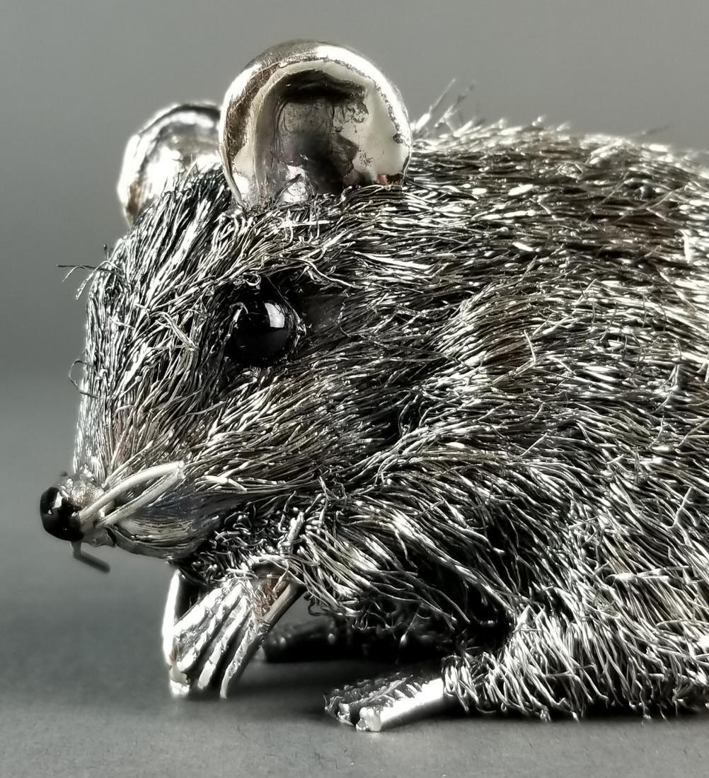 Buccellati Fine Handmade Silver Mouse Signed - 3