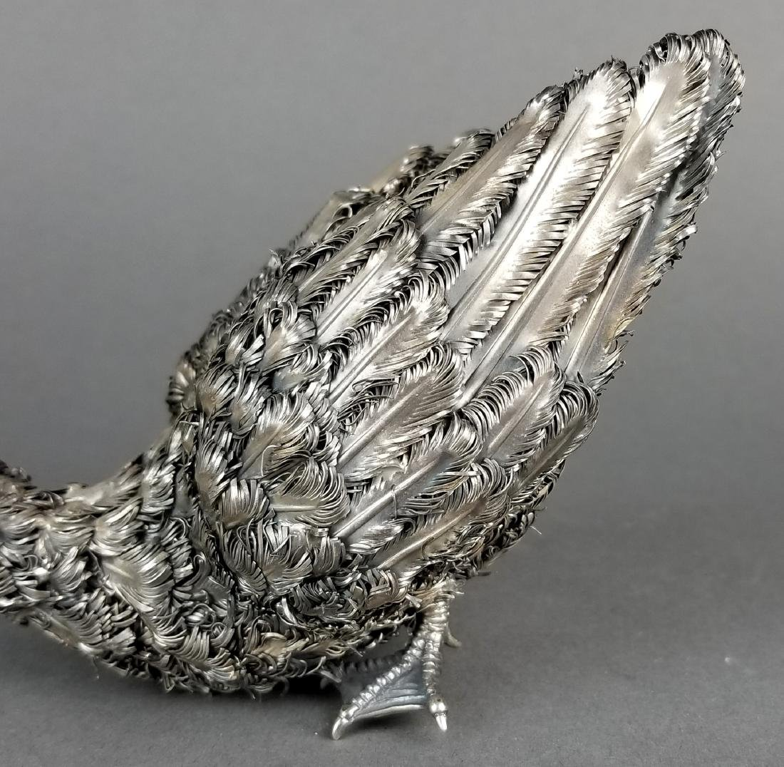 Large Buccellati Signed Silver Handmade Figure of Duck - 4