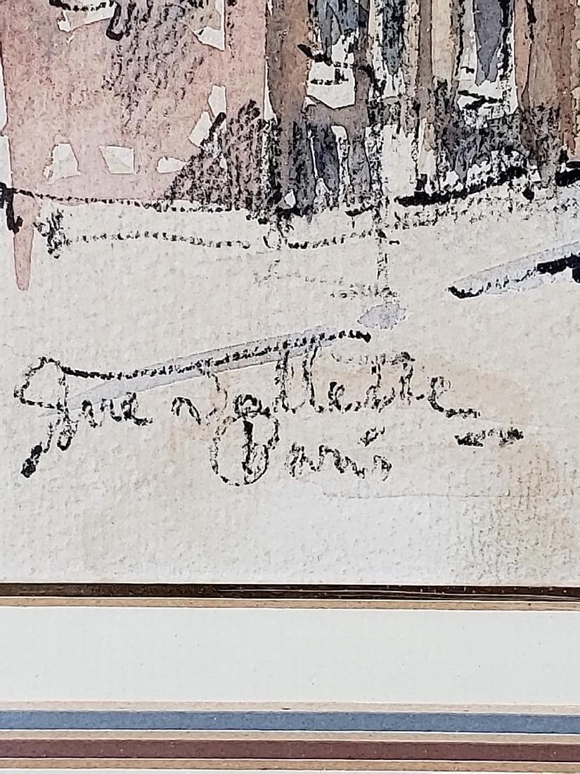 Antique Framed Watercolor Signed - 3