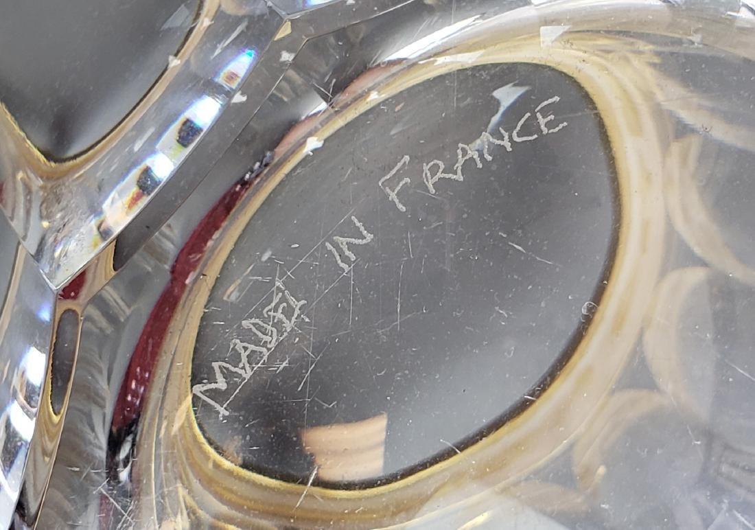 Martin Benito Signed Crystal & Gilt Bronze Ram Handle - 5
