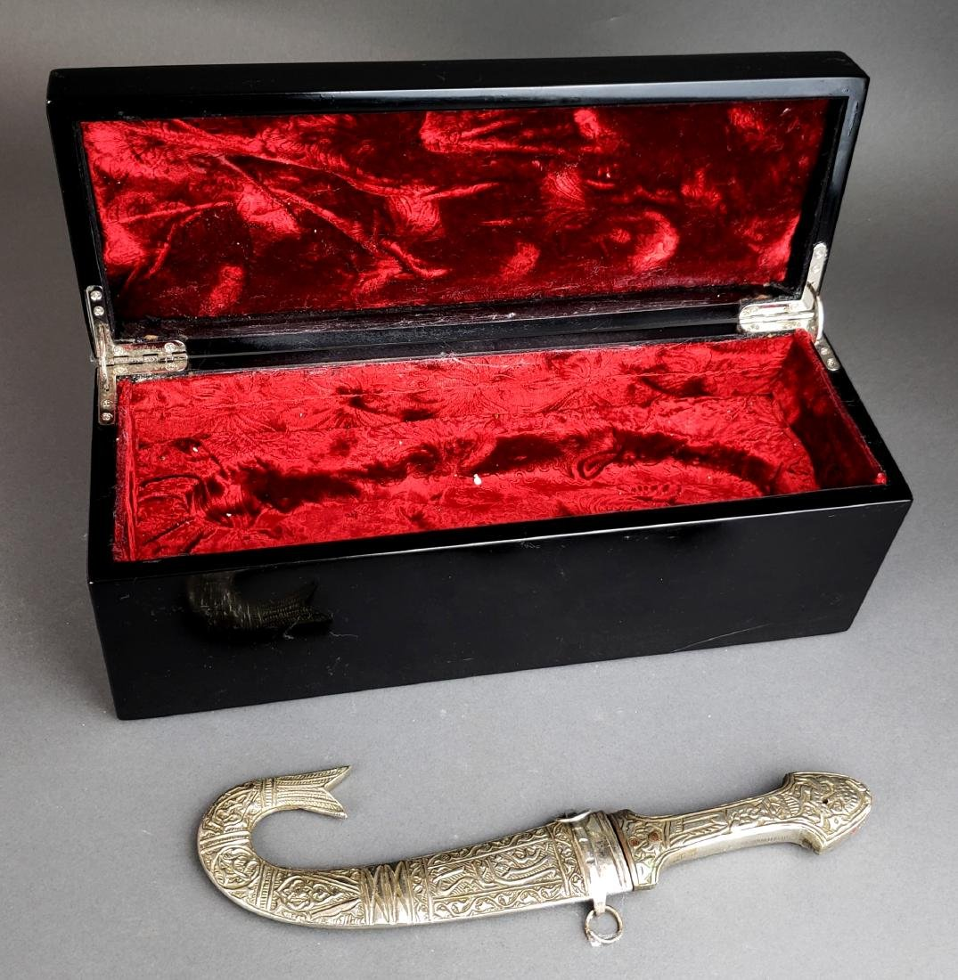 Antique Syrian Dagger w/ Fitted Box - 2