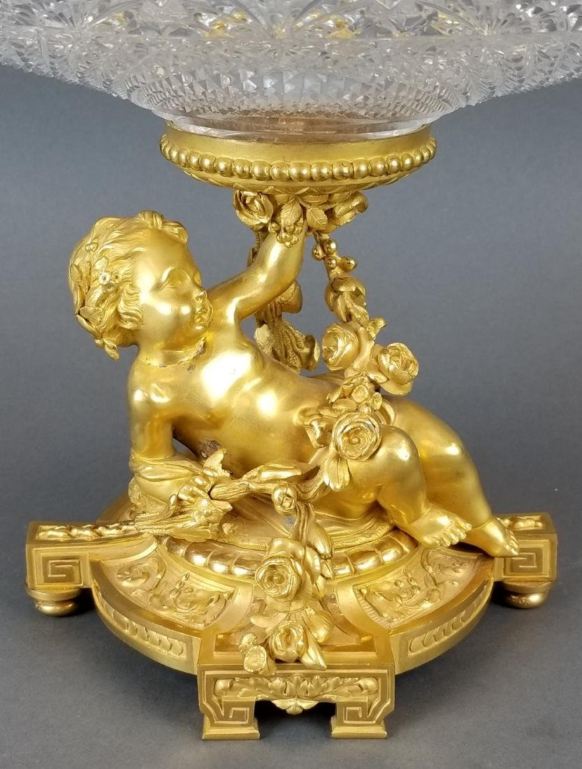 H. Picard Bronze Figural & Baccarat Crystal Centerpiece - 2