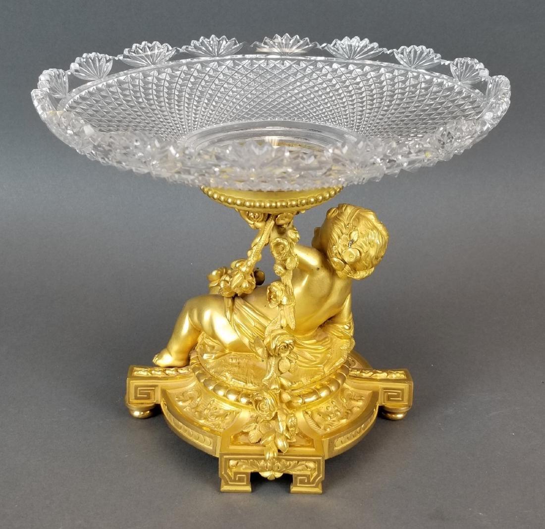 H. Picard Bronze Figural & Baccarat Crystal Centerpiece - 4