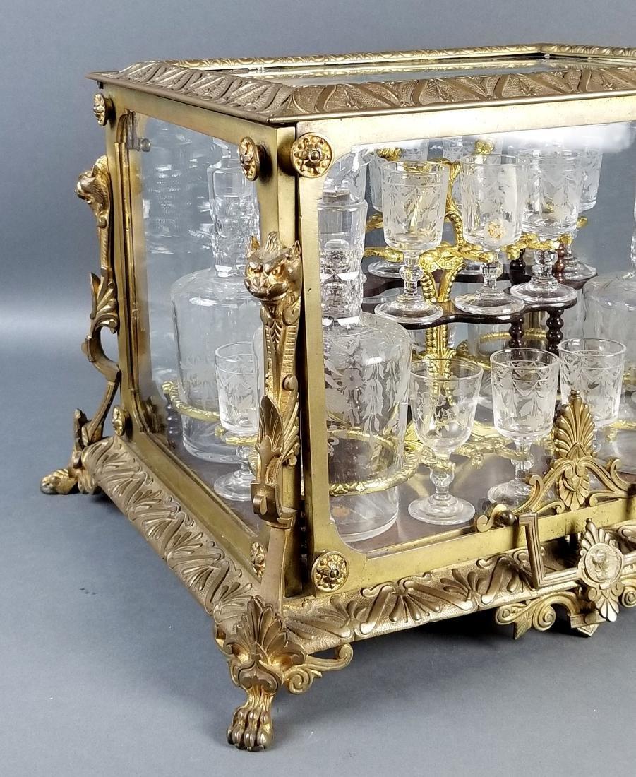 A 19th C. French Gilt Bronze Tantlus Liquor Set - 3