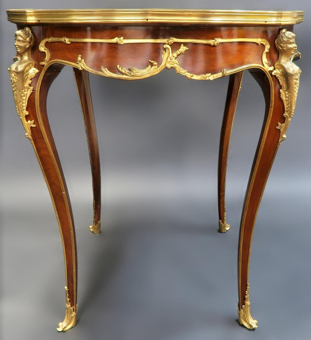 F. Linke Attributed Figural Bronze Mounted Center Table - 3
