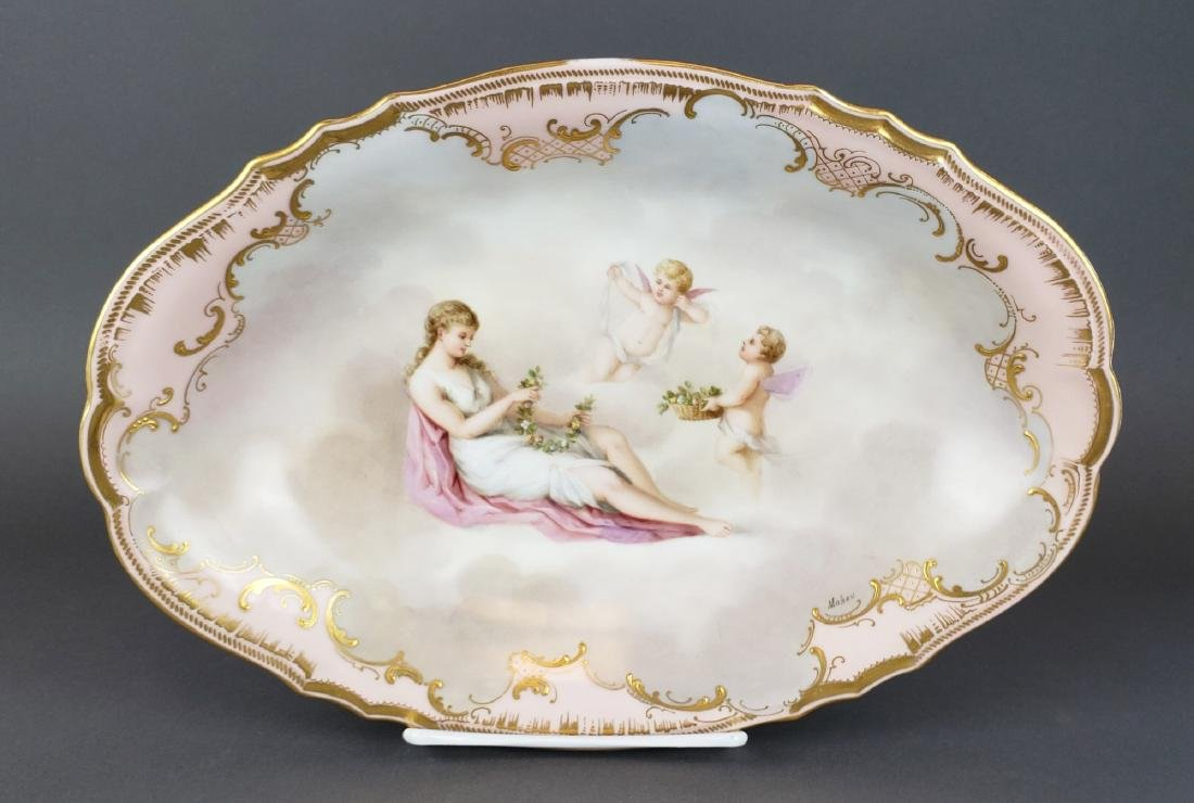 19th C. Royal Vienna Porcelain Charger