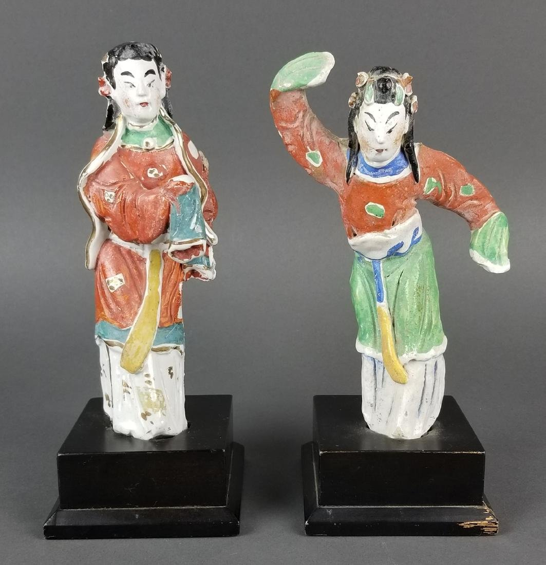 Pair of Japanese Porcelain Figurines