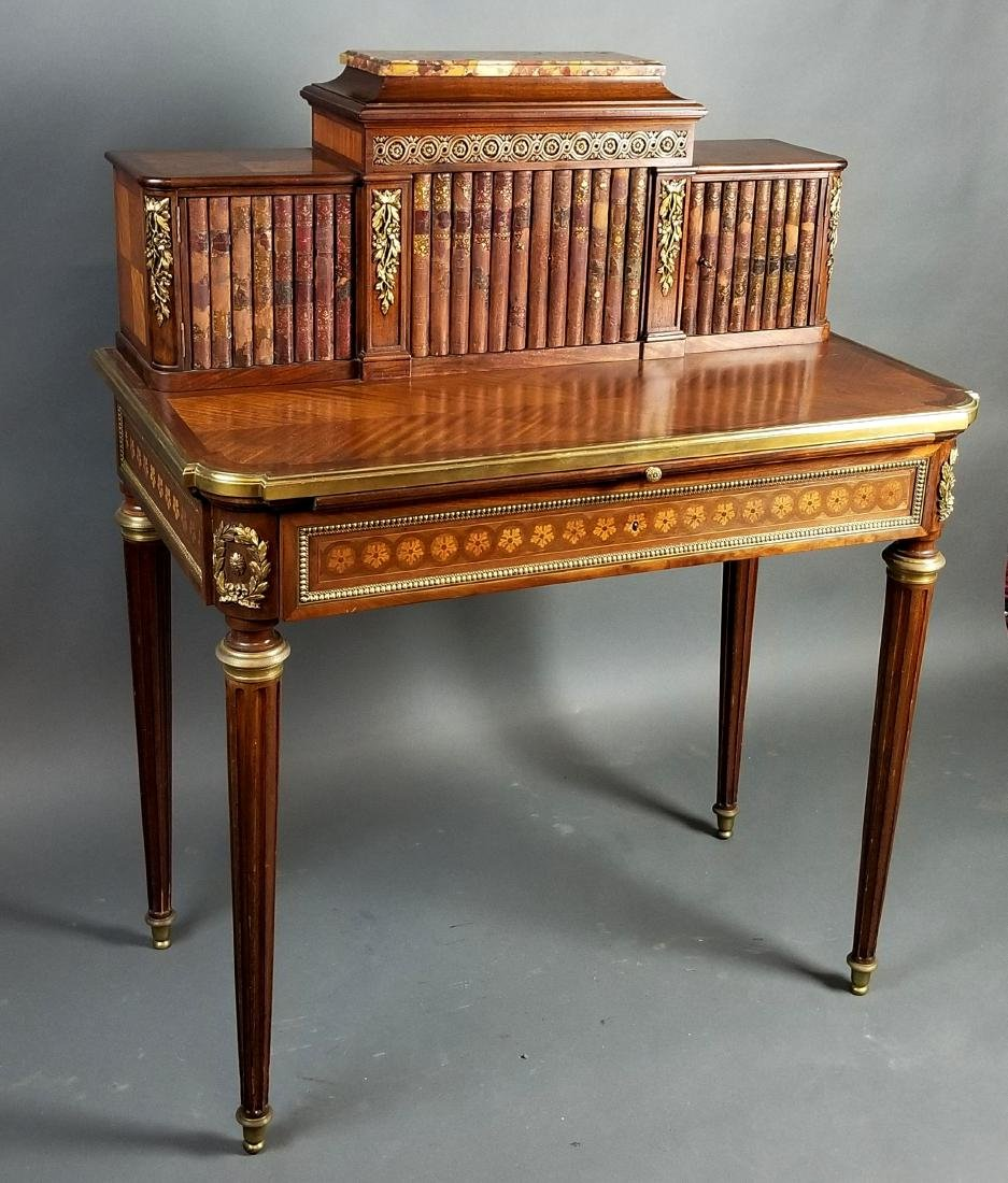 19th C. French Louis XVI Style Writing Desk - 2