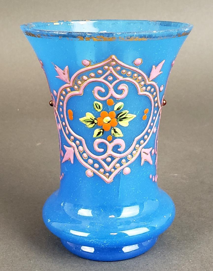 Pair of French Opaline Glass Vases - 2