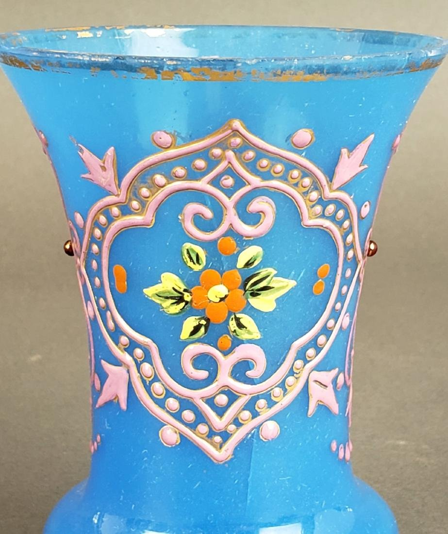 Pair of French Opaline Glass Vases - 3