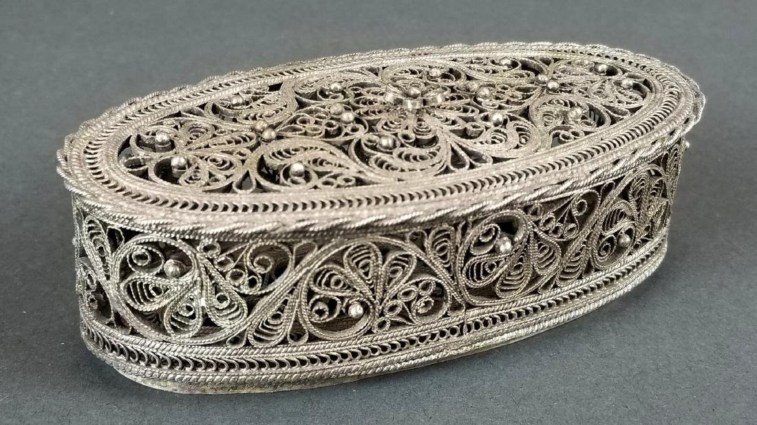 Persian Silver Openworked Box