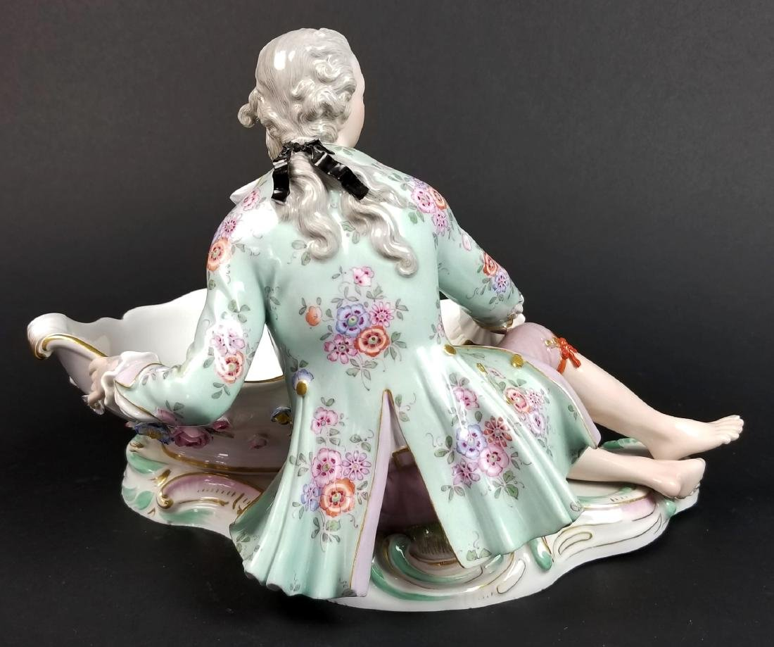 Pair  of 19th C. Meissen Figural Sweetmeat Dishes - 7